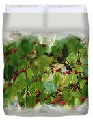 Berries And Leaves 51 Duvet Cover