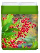 Berries Macro Duvet Cover