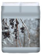 Berries Of Blue Duvet Cover
