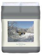 Bert White Bridge Poster Duvet Cover