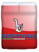 Bertone 3 D Badge On Red Duvet Cover