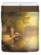 Beside Still Waters Duvet Cover by Greg Olsen