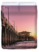 Beside The Pier By Mike-hope Duvet Cover