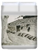Beside The Watery Path Duvet Cover