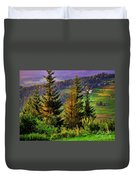 Beskidy Mountains Duvet Cover