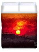 Beskidy Sunset Duvet Cover