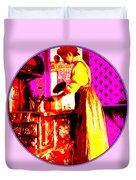 Bessie Goodell Clark At Her Wehrle Stove Duvet Cover by Eikoni Images