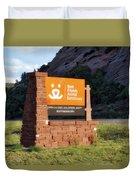 Best Friends Animal Sanctuary Angel Canyon Knob Utah Signage 01 Duvet Cover