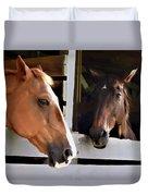 Best Friends Horse Chat Duvet Cover
