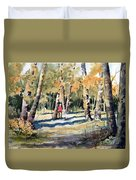Walking With A Friend Duvet Cover