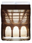 Bethesda Terrace In Color Duvet Cover