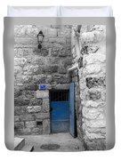 Bethlehem - Blue Old Door Duvet Cover
