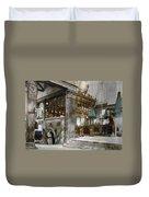 Bethlehem - Inside Nativity Church 1890 Duvet Cover