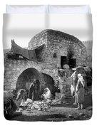Bethlehem - Nativity Scene Year 1900 Duvet Cover