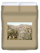 Bethlehem Mar Saba Monastery Duvet Cover