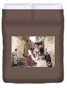 Bethlehem Market 1900 Duvet Cover