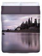 Bethlehem Steel Sunset Duvet Cover