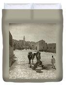 Bethlehem: Street, C1911 Duvet Cover