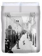 Bethlehem The Main Street 1800s Duvet Cover