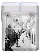 Bethlehem The Main Street 1800s Duvet Cover