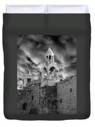 Bethlehem With Cloudy Sky Duvet Cover