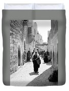 Bethlehemite Going To The Market Duvet Cover