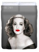 Bette Davis Draw Duvet Cover