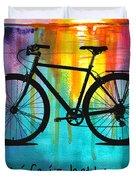 Better On A Bike Duvet Cover