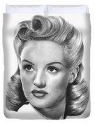 Betty Grable Duvet Cover