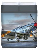 Betty Jane P51d Mustang At Livermore Duvet Cover