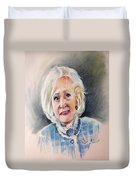 Betty White In Boston Legal Duvet Cover