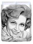 Betty White Duvet Cover
