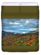 Between The Clouds Blue Ridge Parkway North Carolina Art Duvet Cover