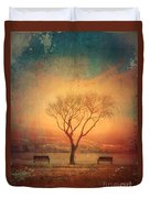 Between Two Benches Duvet Cover