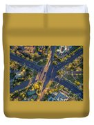 Beverly Hills Streets, Aerial View Duvet Cover