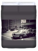 Beverly Hills - Taxi - Wilshire Boulevard Intersection Duvet Cover