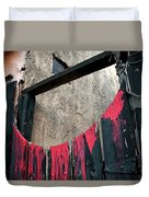 Beware All Who Enter Here - Halloween Gate Duvet Cover