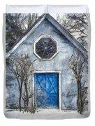 Beyond The Blue Door Pencil Duvet Cover
