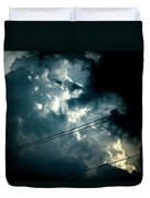 Beyond The Electric Fence Duvet Cover