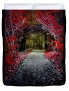 Beyond The Red Leaves Duvet Cover