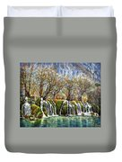 Beyond The Snowy Mountains Duvet Cover
