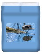 Bff Turtle And Canda Goose Duvet Cover