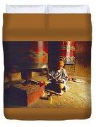 Bhutan Pilgrim Duvet Cover