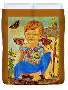 Bianka And Butterflies Duvet Cover