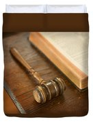 Bible And Gavel Duvet Cover