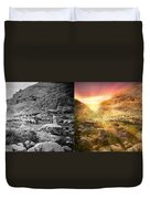 Bible - Psalm 23 - Yea, Though I Walk Through The Valley 1920 - Side By Side Duvet Cover