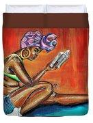 Bible Reading Duvet Cover