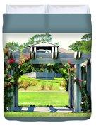 Bicentennial Rose Garden Duvet Cover