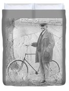 Bicycle And Jd Rockefeller Vintage Photo Art Duvet Cover