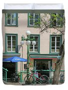 Bicycle And Lamppost 6417 Duvet Cover